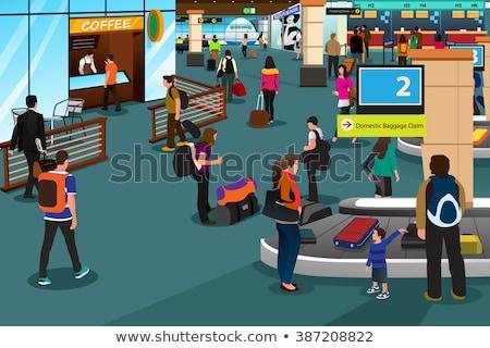 Inside Airport Scene Illustration Stock photo © artisticco
