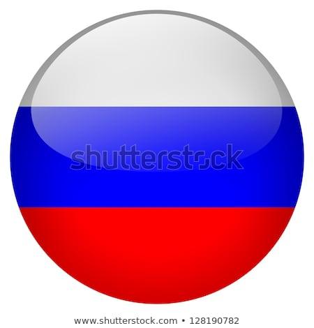 Sticker design for Russia flag Stock photo © colematt