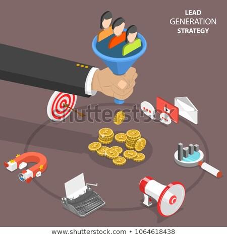 verkoop · groei · isometrische · vector · financiële · verbetering - stockfoto © tarikvision