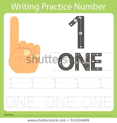Number one tracing guide Stock photo © colematt