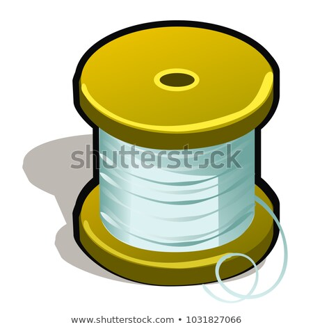 Spool of polymeric tape or thread isolated on white background. Vector cartoon close-up illustration Stock photo © Lady-Luck