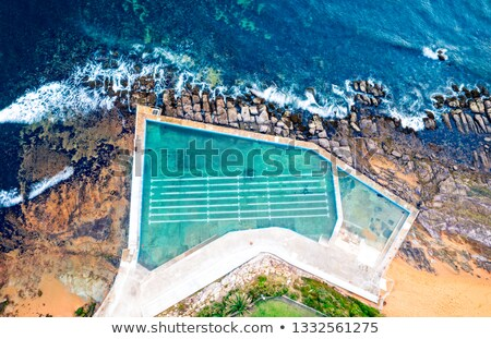 Collaroy Rock Pool and ocean views from above Stock photo © lovleah