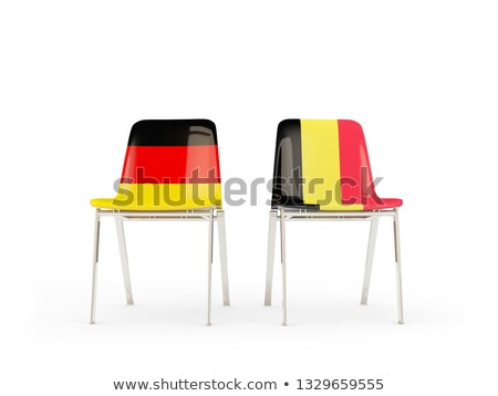 Two chairs with flags of Germany and belgium Stock photo © MikhailMishchenko