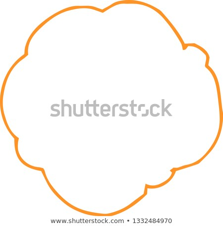 Colorful Rough sketch of a cloud type frame  Stock photo © Blue_daemon
