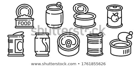 vector set of canned fish stock photo © olllikeballoon