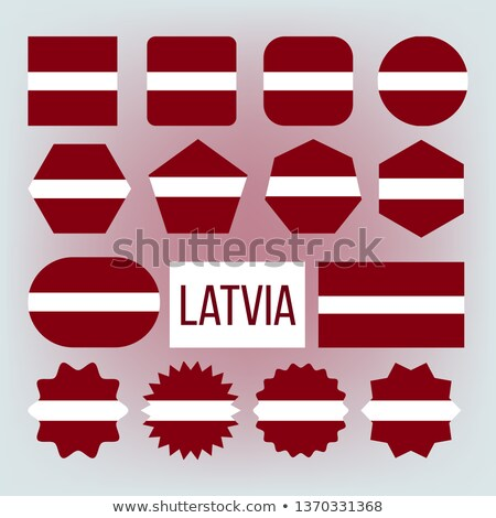 Latvia National Colors, Insignia Vector Icons Set Stock fotó © pikepicture
