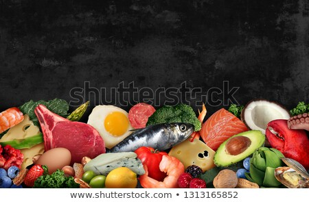 Keto Ketogenic Text On Black Stock photo © Lightsource