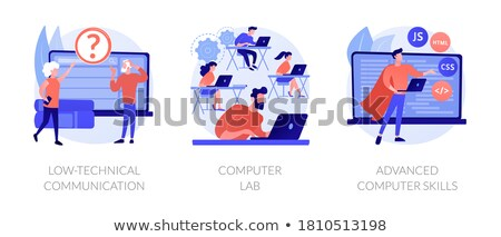 Low-technical communication concept vector illustration Stock photo © RAStudio