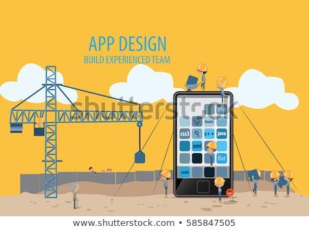 Nuovo idea ingegneria app interfaccia modello Foto d'archivio © RAStudio