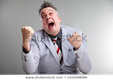 Frustrated angry temperamental businessman Stock photo © Giulio_Fornasar