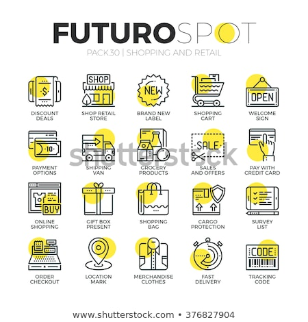 Compras prima venta descuento vector Foto stock © robuart