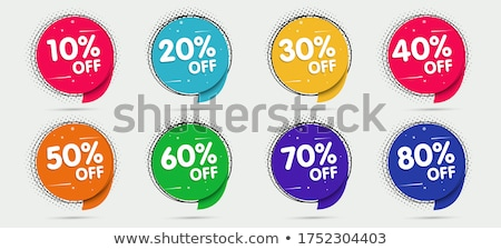 Big Sale Discount Posters Set Vector Illustration Stock photo © robuart