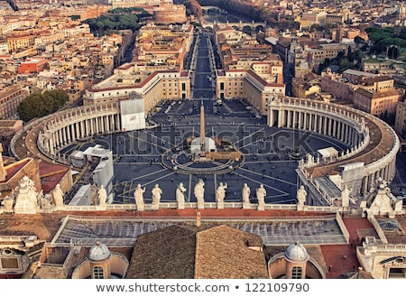 View of St. Peter Square and Rome, Vatican Stock photo © borisb17