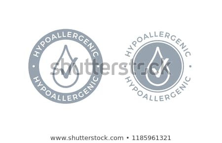 Hypoallergenic tested product logo - label for hypoallergenic pa Stock photo © Winner