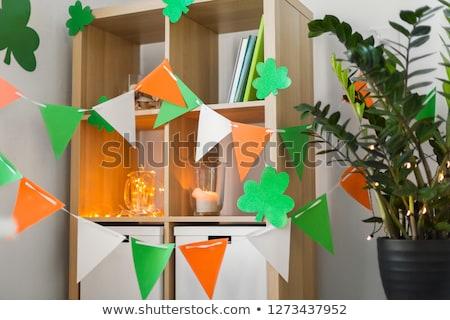 Home interni decorato festa di San Patrizio party vacanze Foto d'archivio © dolgachov