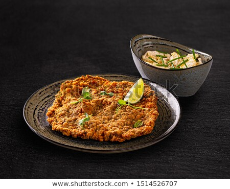 Giant veal viennese schnitzel Stock photo © grafvision