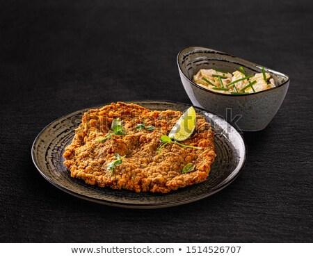 巨人 子牛肉 務め ポテトサラダ チャイブ 食品 ストックフォト © grafvision