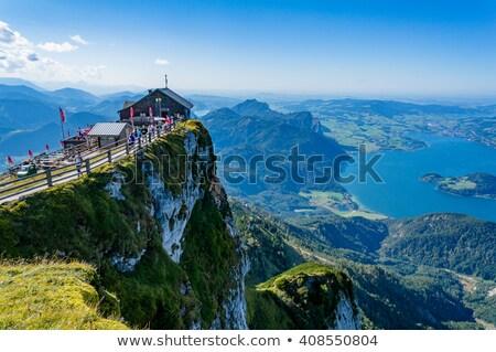 Berg Oostenrijk alpen meer water Stockfoto © borisb17