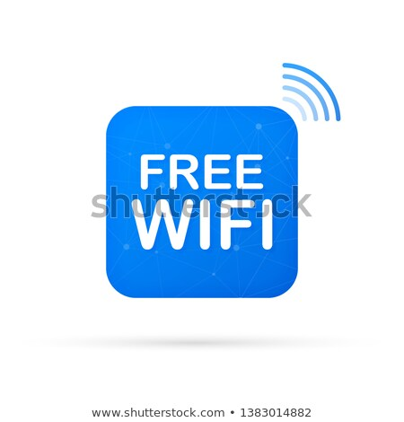 Free wifi sign concept. Internet access, hotspot. Stock Vector illustration isolated on white backgr Stock photo © kyryloff