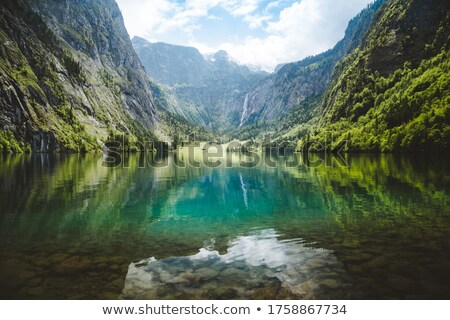 Konigssee lake and Berchtesgadener Land Alps peaks view from Keh Stock photo © xbrchx