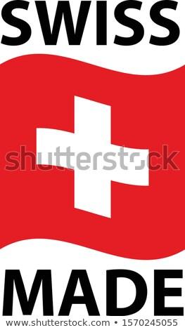 Logo ikon dalgalı bayrak İsviçre deli Stok fotoğraf © gomixer