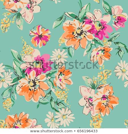 Floral belo flores colorido Foto stock © user_10144511