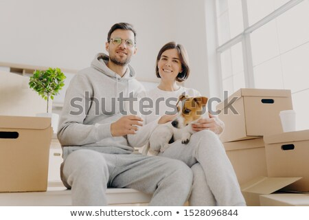 Shot marito moglie posa insieme Foto d'archivio © vkstudio