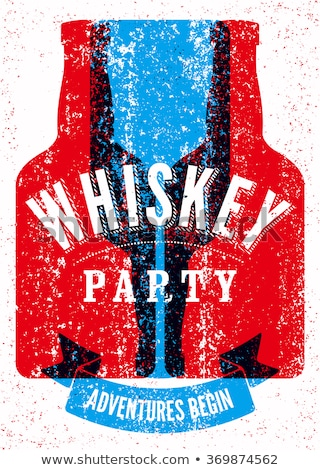 Whiskey Bar Creative Advertising Poster Vector Stock photo © pikepicture