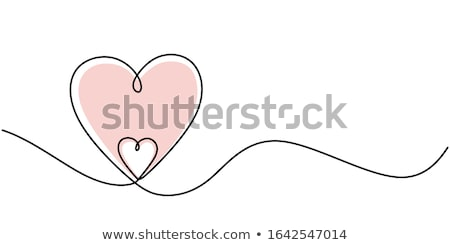 beautiful minimal two hearts valentines day background Stock photo © SArts