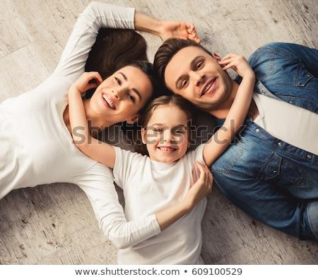 Nevelés boldogság életstílus gyönyörű női lánygyermek Stock fotó © vkstudio