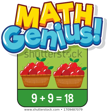 Math flashcard design for adding numbers Stock photo © bluering