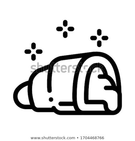 Töltött croissant ikon vektor skicc illusztráció Stock fotó © pikepicture