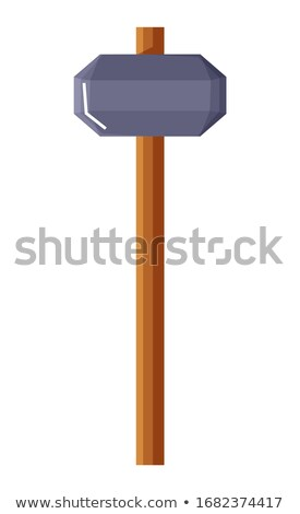 Miner and Mining Industry Equipments Kit Vector Stock photo © robuart