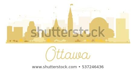 Otawa dourado silhueta simples turismo Foto stock © ShustrikS