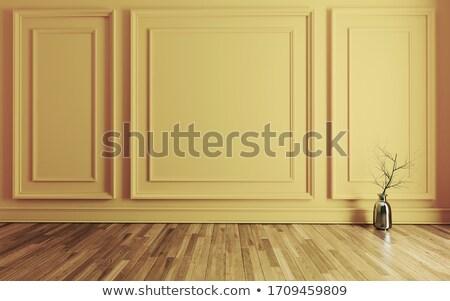 пустой комнате современных классический желтый стены ваза Сток-фото © sedatseven