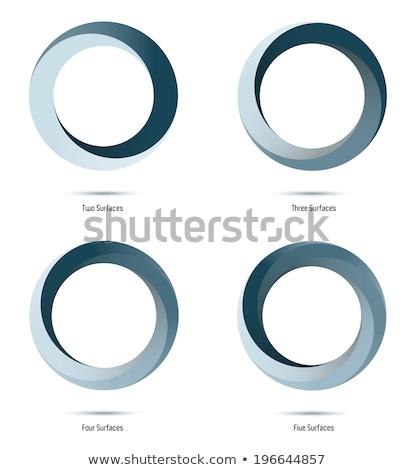 Impossível dois círculos ícone vetor Foto stock © almagami