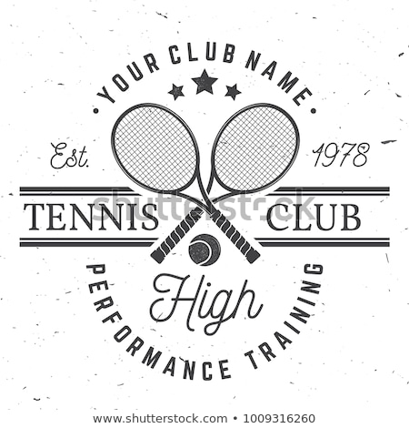 Teniszütő sport bajnokság szalag vektor nemzetközi Stock fotó © pikepicture