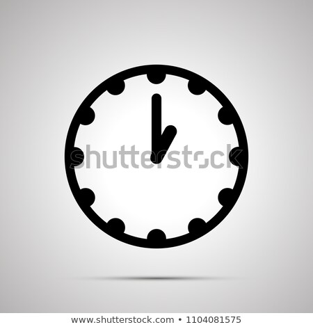 Clock face showing 1-00, simple black icon on white Stock photo © evgeny89