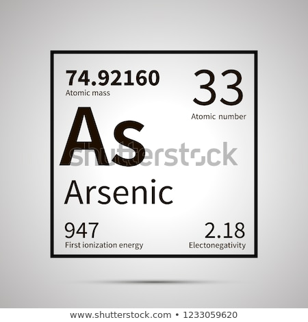 Arsenic chemical element with first ionization energy, atomic mass and electronegativity values ,sim Stock photo © evgeny89