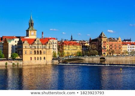 Prague Stare Mesto embankment view from Charles bridge Stock photo © dmitry_rukhlenko