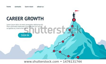 Személyes motiváció vektor metafora növekedés karrier Stock fotó © RAStudio