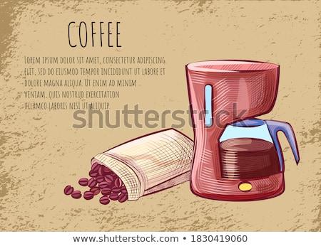 コーヒー はがき 豆 ジャワ ベクトル ストックフォト © robuart