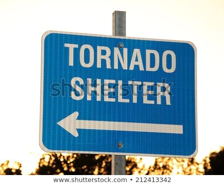 storm shelter sign Stock photo © pancaketom