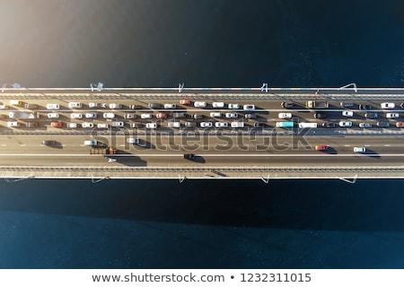 Trafik sıkışıklığı sabah yol iş şehir karayolu Stok fotoğraf © joyr