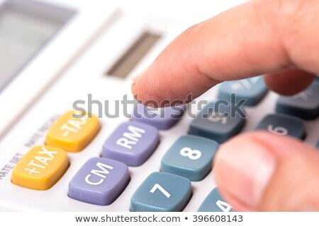 電卓 · 指 · クローズアップ · ビジネス · キーボード · 色 - ストックフォト © borysshevchuk