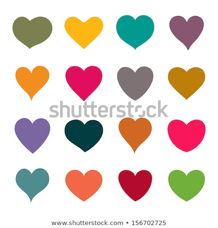 Collection of different heart shapes Stock photo © nurrka