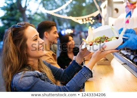 kiełbasa · suchar · plastry · żywności · ciasto - zdjęcia stock © simplefoto