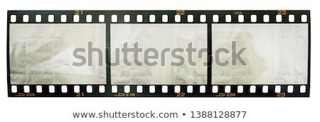 üç film şeritler fotoğrafları beyaz Stok fotoğraf © pongam