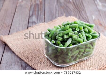 Bevroren string bonen voedsel natuur landbouw Stockfoto © Raduntsev
