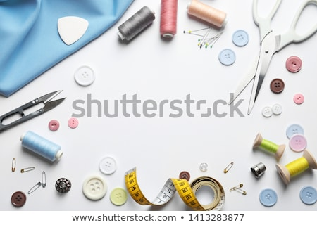 ミシン · 白 · コピースペース · 産業 · テープ · ツール - ストックフォト © brebca